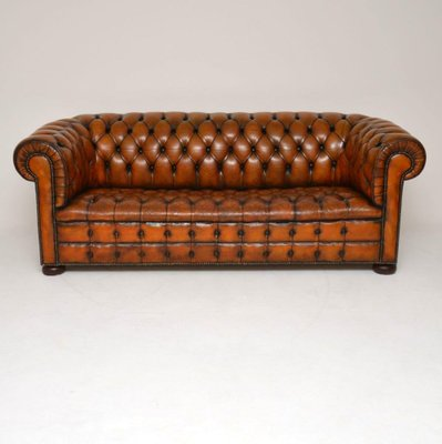 Antique Deep Buttoned Leather Chesterfield Sofa for sale at Pamo