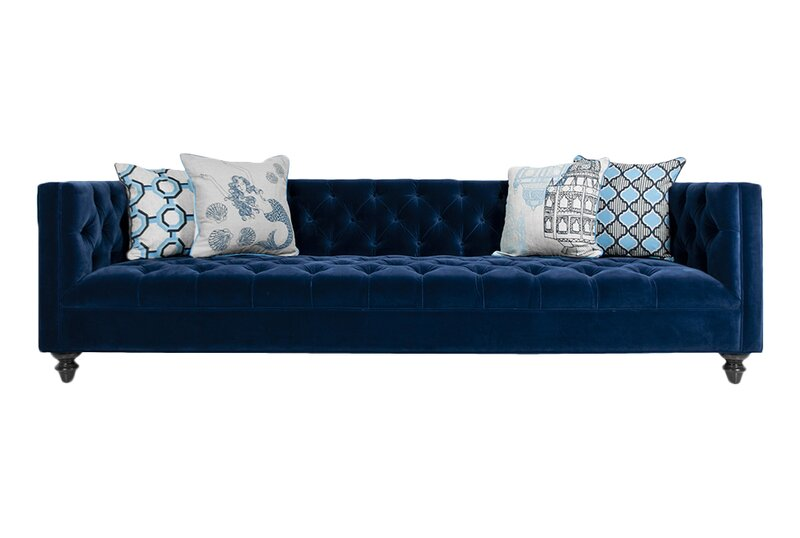 ModShop Navy Chesterfield Sofa & Reviews | Wayfa