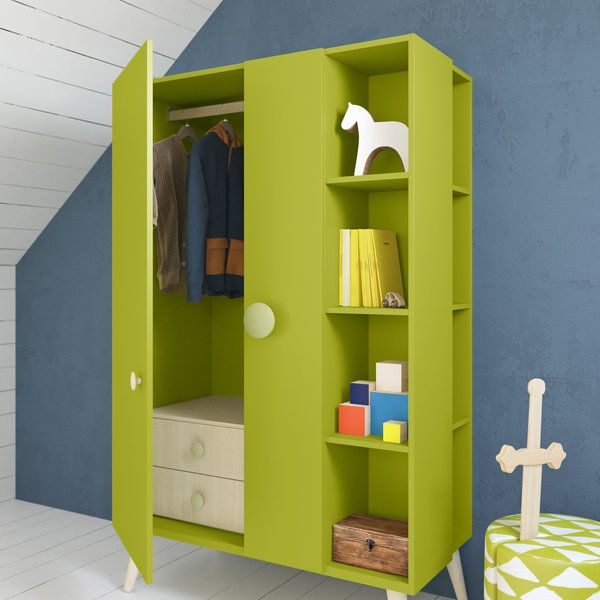 Children's Modern Wardrobe with plenty of storage options .