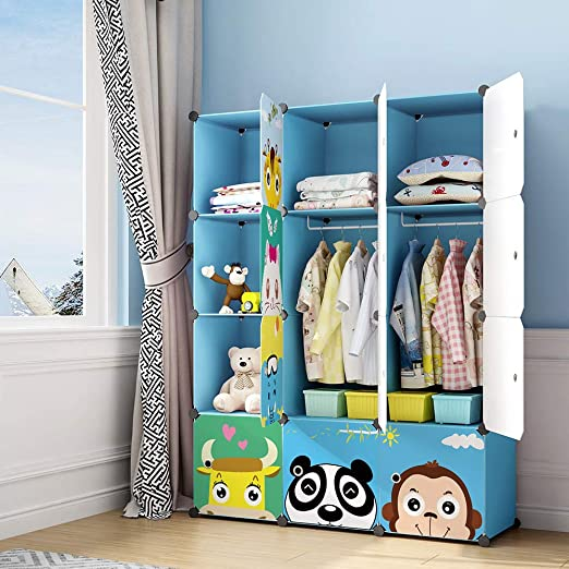 Amazon.com: MAGINELS Children Wardrobe Kid Dresser Cute Baby .