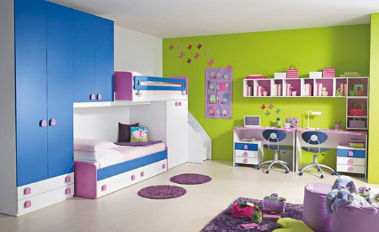 Cute and Colorful Children's Bedroom Furniture Se