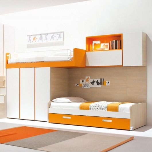 10 Colorful Modern Loft Bed Designs by Clev