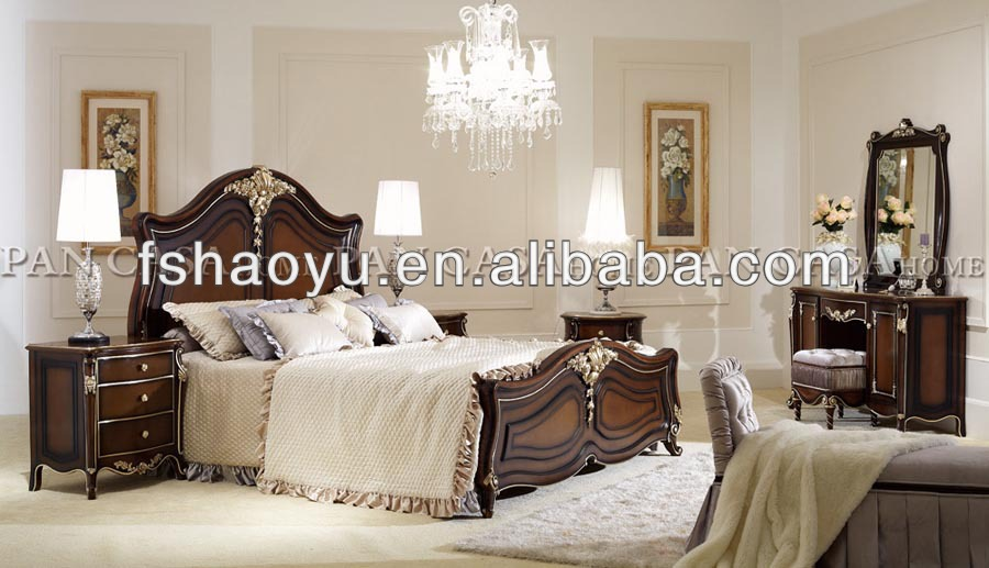 New Classic Bedroom Furniture Bed/french Provincial Bedroom .