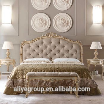 Luxury Gold Royal Classic Wooden Luxury Arabic Classic Bedroom .