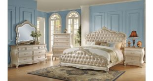 Bencivenni Pearl White Classic Bedroom Furnitu