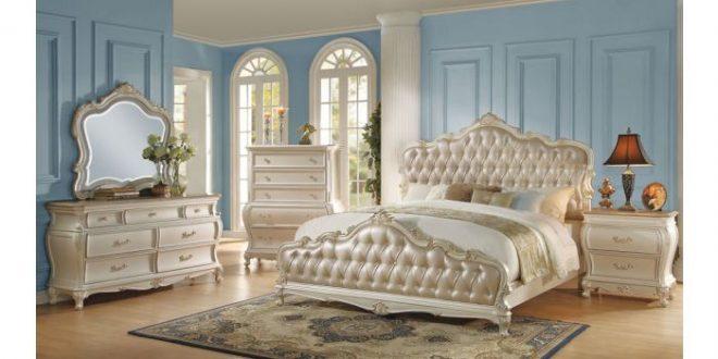 Bencivenni Pearl White Classic Bedroom Furnitu
