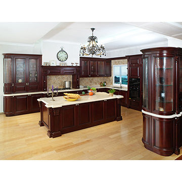 Classic kitchen cabinet, solid wood kitchen | Global Sourc
