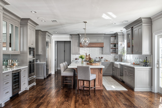Grey Classic Kitchen - Transitional - Kitchen - New York - by .