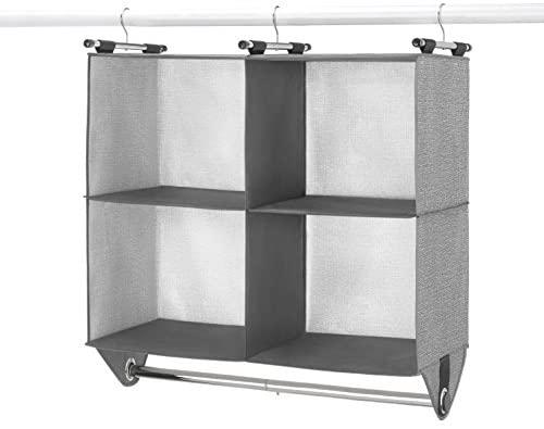 Amazon.com: Whitmor 4 Section Fabric Closet Organizer Shelving .