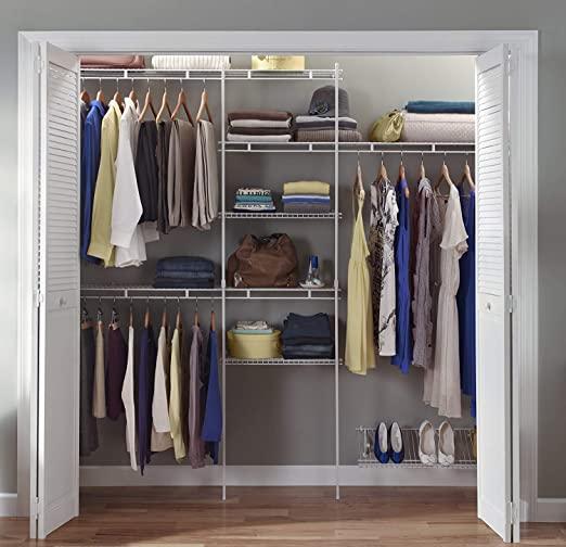 Amazon.com: ClosetMaid 1608 Closet Organizer Kit with Shoe Shelf .
