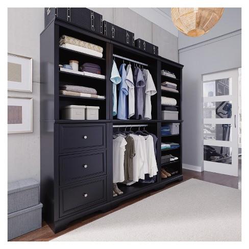 3pc Bedford Closet Organizer Satin Black - Home Styles : Targ