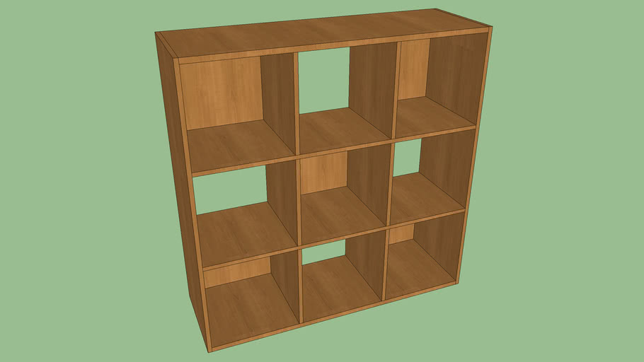 ClosetMaid Cubeicals 9 Cube Organizer Alder | 3D Warehou