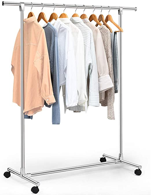 Amazon.com: Tangkula Garment Rack, Heavy Duty Stainless Steel .