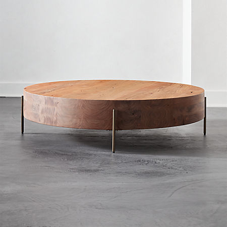 Proctor Low Round Wood Coffee Table + Reviews | C