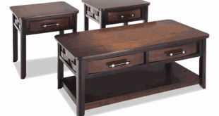 Dream Weaver Cherry & Espresso Coffee Table Set | Bobs.c