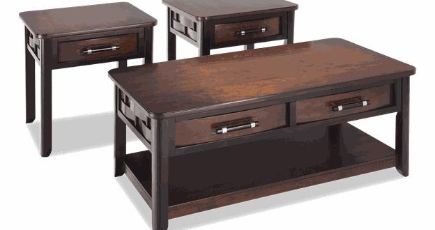 Dream Weaver Cherry & Espresso Coffee Table Set   Bobs.c