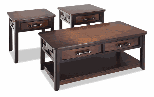 Dream Weaver Cherry & Espresso Coffee Table Set | Bobs.c