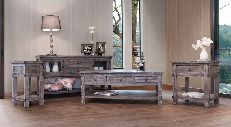 IFD Furniture | 380 San Angelo Rustic Coffee Table Set | Dallas .