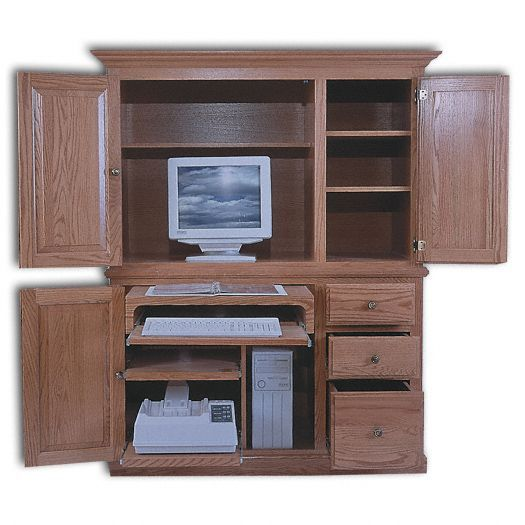 Deluxe Computer Center - Computer Armoires - Home Offi
