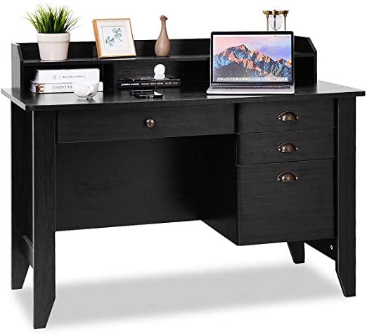 Amazon.com: Tangkula Computer Desk, Home Office Desk, Wood Frame .