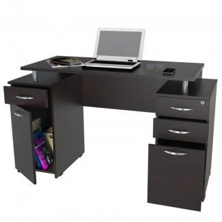 Computer Desk With Drawers Efistu Com