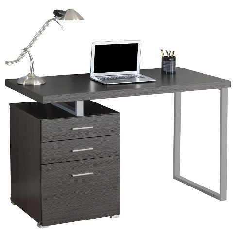 Computer Desk With Drawers - Gray - EveryRoom : Targ