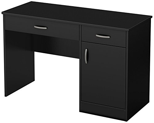 Amazon.com: South Shore Small Computer Desk with Drawers, Pure .