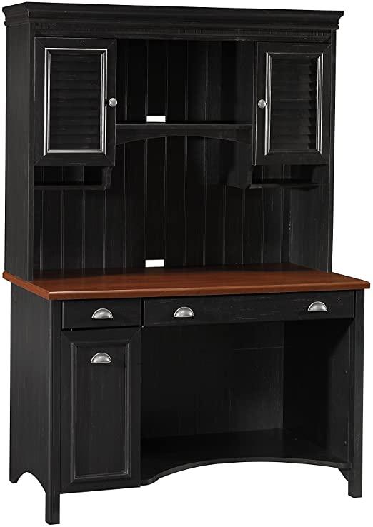 Amazon.com: Bush Furniture Stanford Computer Desk with Hutch and .