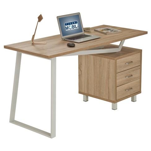 Modern Design Computer Desk With Storage Sand Stone - Techni .