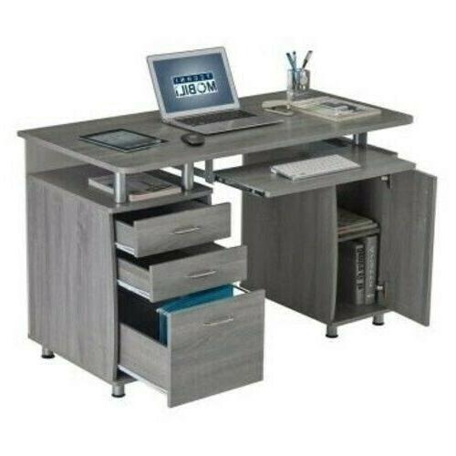 Techni Mobili Complete Workstation Computer Desk with Stora