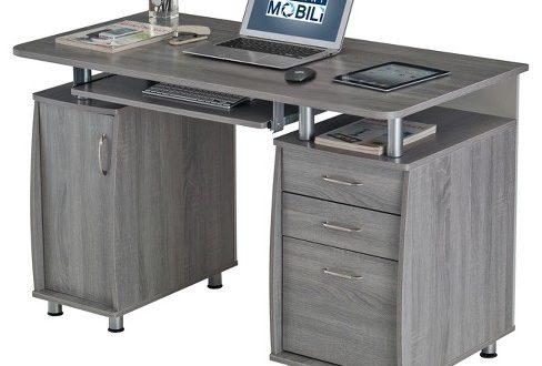 Complete Workstation Computer Desk With Storage Gray - Techni .