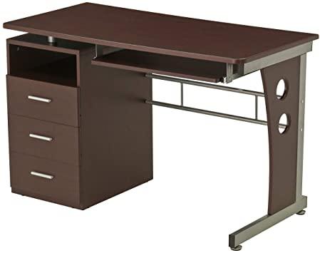 Amazon.com: Computer Desk With Ample Storage. Color: Chocolate .