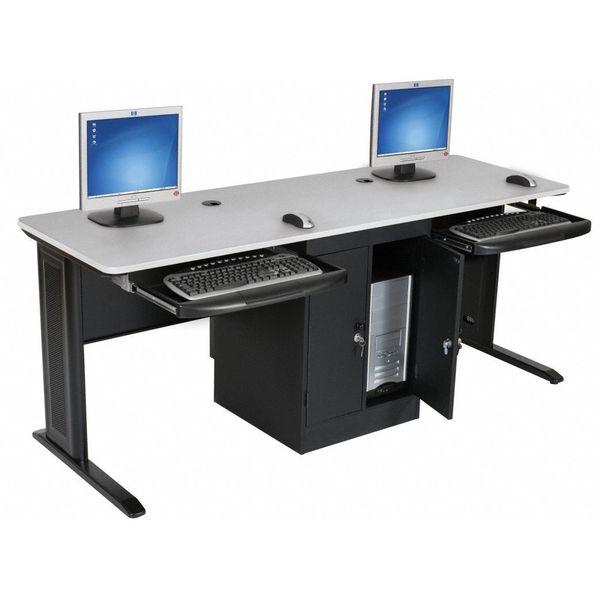 "Balt 29""H x 72""W x 24""D LX Series Computer Workstation, Gray 90107 ."