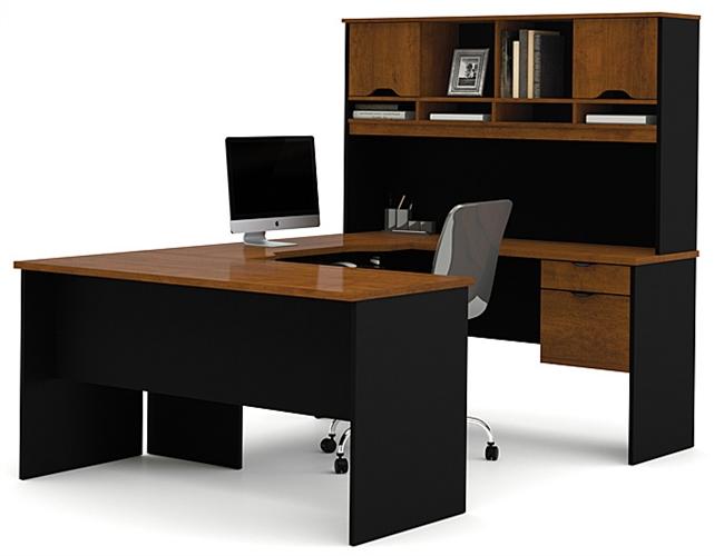 Bestar Innova U-Shape Computer Workstation | Computer Desk With Hut