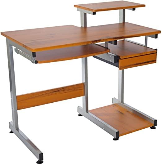 Amazon.com: Complete Computer Workstation Desk. Color: Woodgrain .