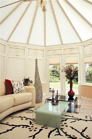 cream conservatory roof blinds … | Conservatory roof blinds .