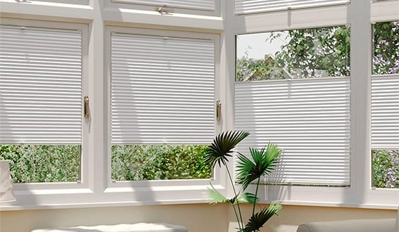 conservatory blinds duolight bright white easifit thermal blind .