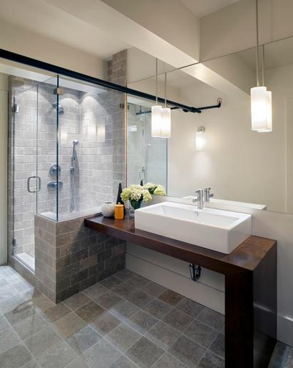 Contemporary bathroom pedant lighting ideas for small bathrooms .