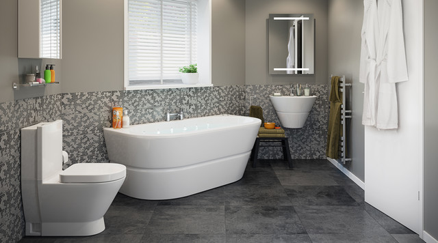 Rosalind Bathroom Suite - Contemporary - Bathroom - Hampshi