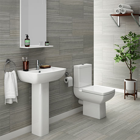 Milan 4 Piece Modern Bathroom Suite | From Victorian Plumbing.co.