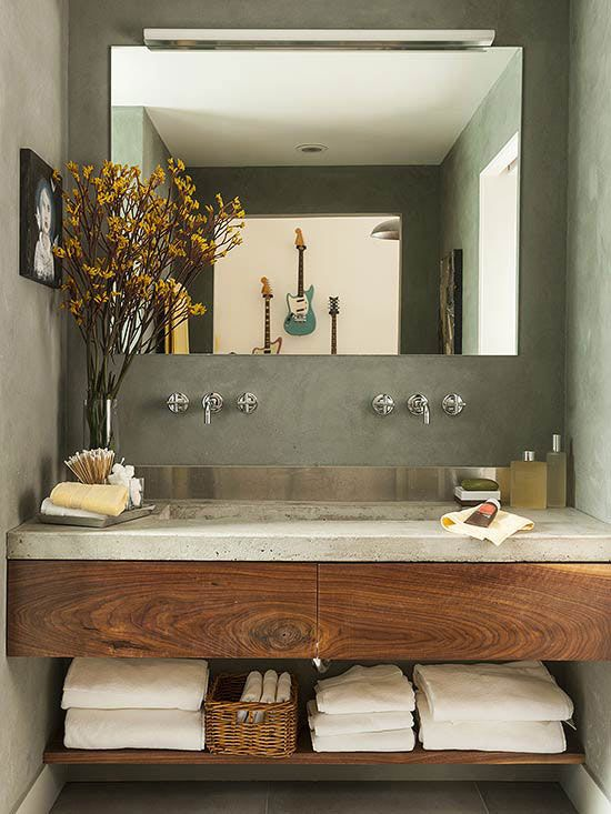 Modern Bathroom Vanities | Concrete bathroom, Bathroom design .