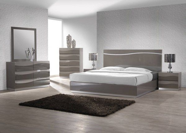 Chintaly Imports Delhi 2pc Bedroom Set with King Bed | Bedroom set .