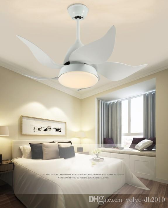 2020 Modern Ceiling Fans Contemporary Iron LED Lights Living Room .