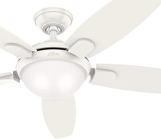 Hunter 54 in. Contemporary Ceiling Fan with LED Light and Remote .