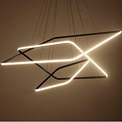 Royal Pearl Modern Square Led Chandelier Adjustable Hanging Light .