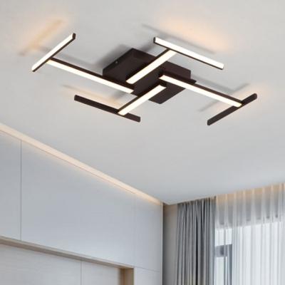 Silicon Gel Linear Ceiling Light Modern Design LED Flush Mount in .