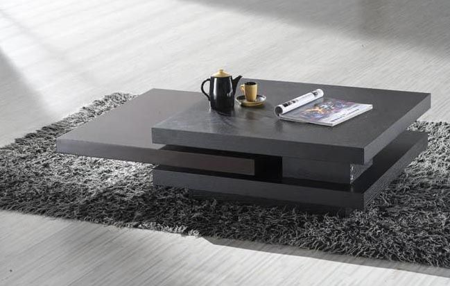 Wenge Contemporary Coffee Table | Modern living room table, Modern .