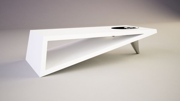 Contemporary Coffee Tables | Modern Triangle Coffee Table Orea .