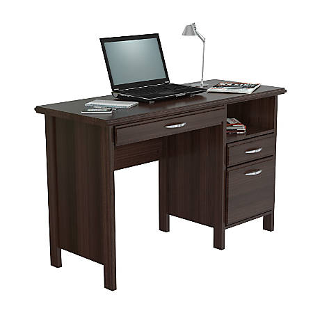 Inval Contemporary Computer Desk Espresso Wengue - Office Dep