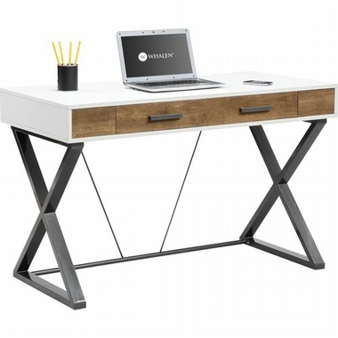 Whalen Furniture - Samford Contemporary Computer Desk - White .